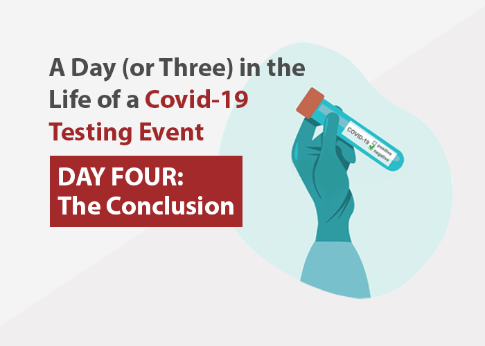 A Day (or Three) In the Life of a COVID-19 Testing Event - Day Four: The Conclusion
